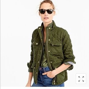 NWT J.Crew Quilted Downtown Field Jacket